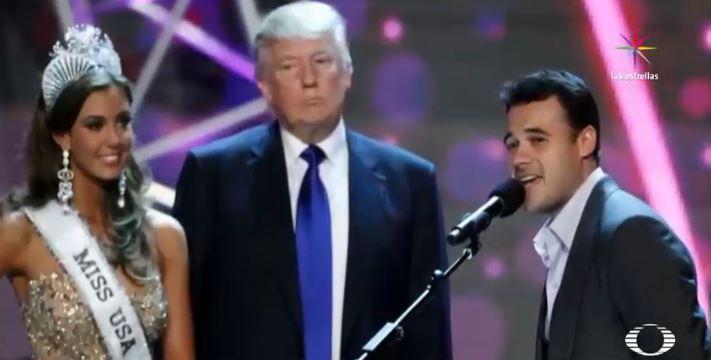 Donald Trump y el cantante ruso Emin Agalarov durante Miss Universo 2013