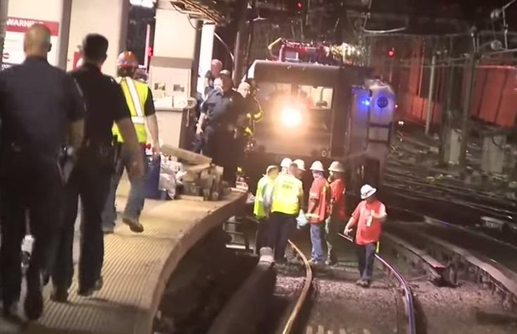 Tren, descarrila, Nueva York, accidente, estación, Penn Station,