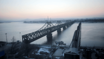 Yalu es un río fronterizo entre Corea del Norte y China