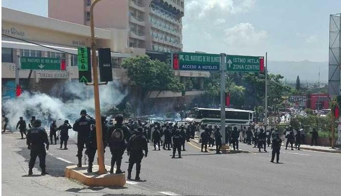 Seccion 22, Enfrentamiento, Oaxaca, Policia Estatal, Seguridad