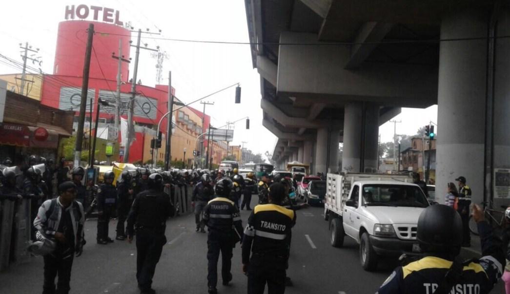 Enfrentamiento en la colonia Nopalera, delegación Tláhuac. (Twitter SSP CDMX)