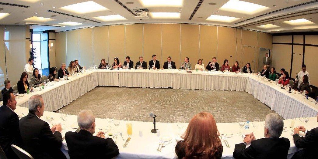 Enrique Ochoa, PRI, dirigente, senadores, 2018, política, reunión, encuentro