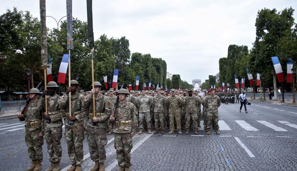 Fuerzas Armadas, Estados Unidos, desfile, Día de la Bastilla, París