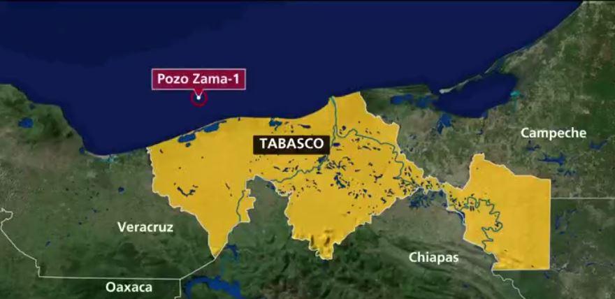 yacimiento de petróleo frente a costas de Tabasco