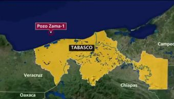 Hallan yacimiento de petróleo frente a costas de Tabasco