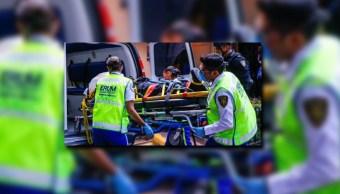 Taxista arrastra 100 metros a un policia en la morelos