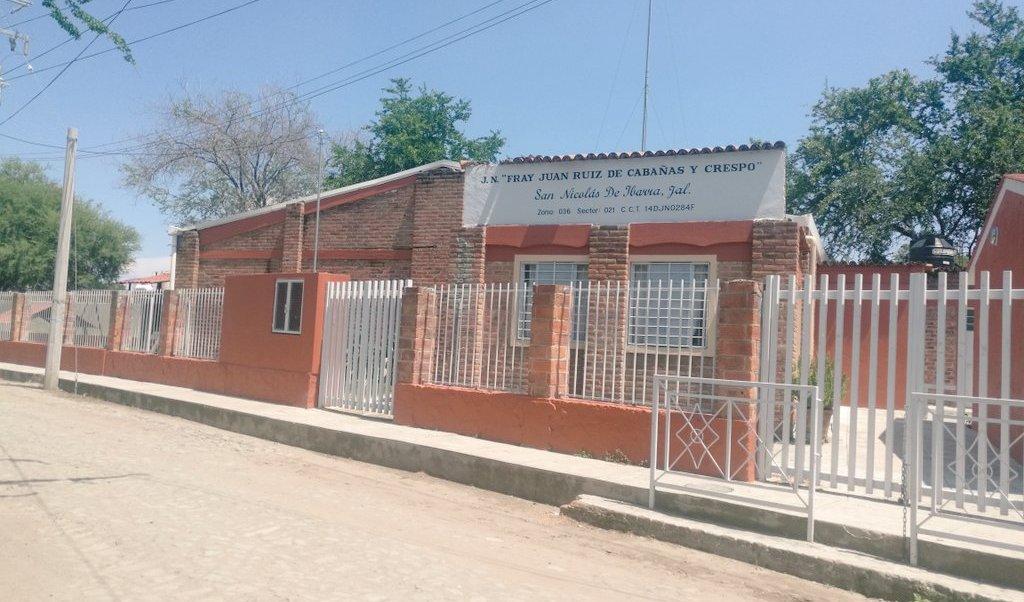 Fachada del kínder en Chapala, Jalisco