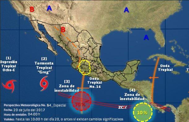 cinco fenomenos atmosfericos merodean a mexico
