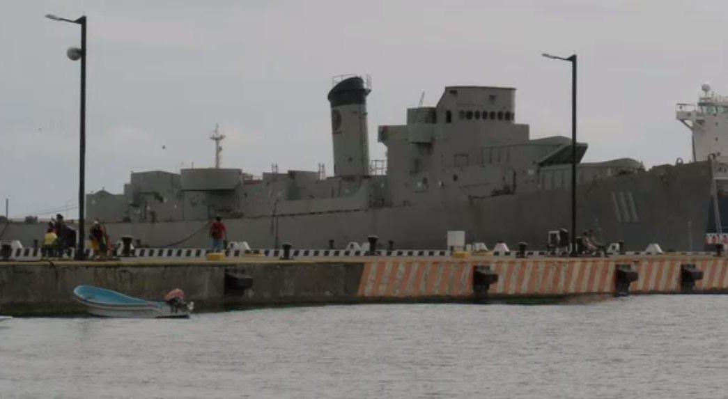 hundiran buque manuel azueta en veracruz
