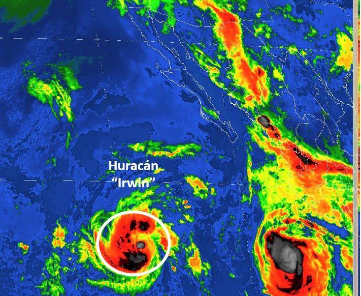 Tormenta tropical Irwin se intensifica a huracan categoria 1 en el Pacifico