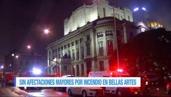 Incendio, Palacio, Bellas Artes, afectaciones, mayores, bomberos