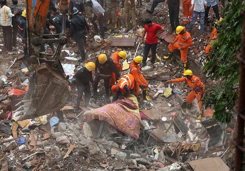 Bomberos, Trabajadores, Rescate, Sobrevivientes, India