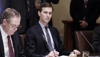 Jared Kushner participa en una reunion en la casa blanca
