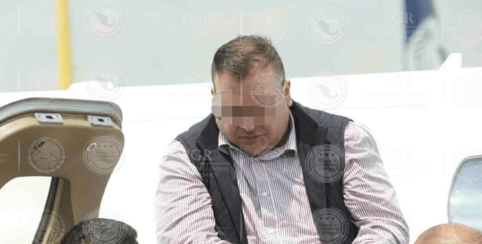Javier Duarte en el AICM tras su extradición desde Guatemala
