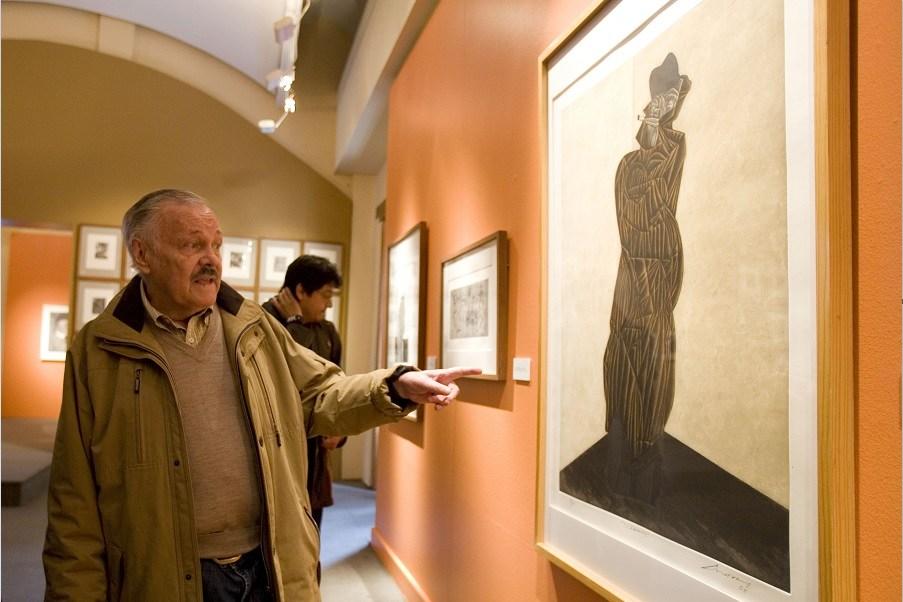 Jose Luis Cuevas hizo varios autorretratos en su vida