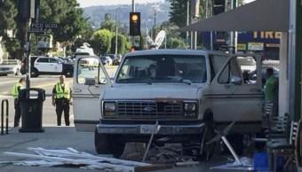 Lesionados Angeles Estados Unidos Camioneta Policia