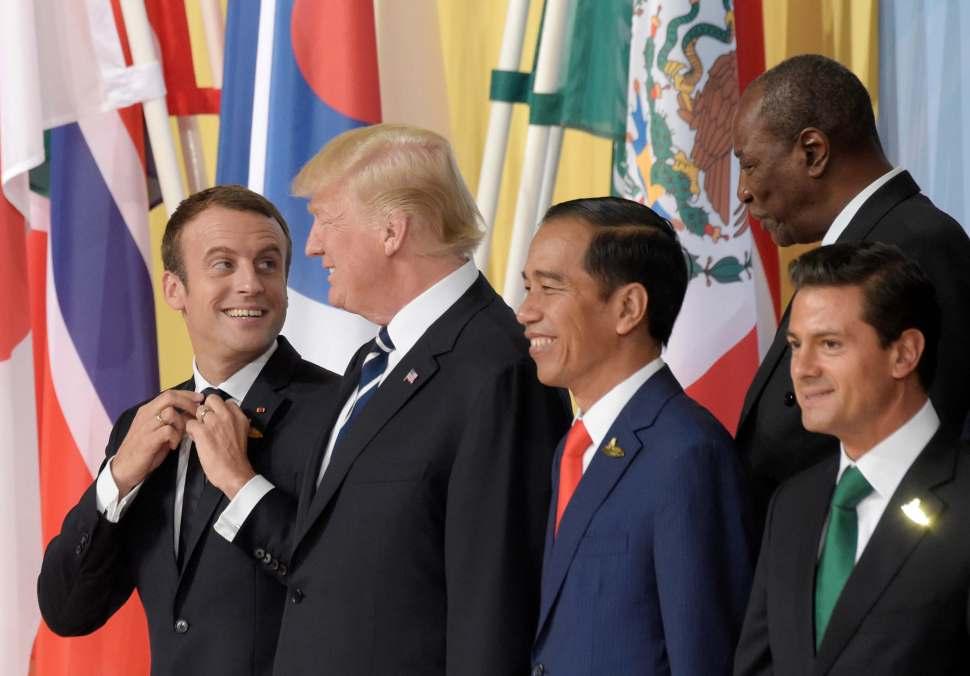 Macron, Donald Trump, Widodo, Sall y Pena Nieto en cumbre del G20
