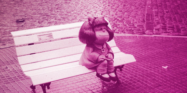 Quino y su célebre personaje Mafalda