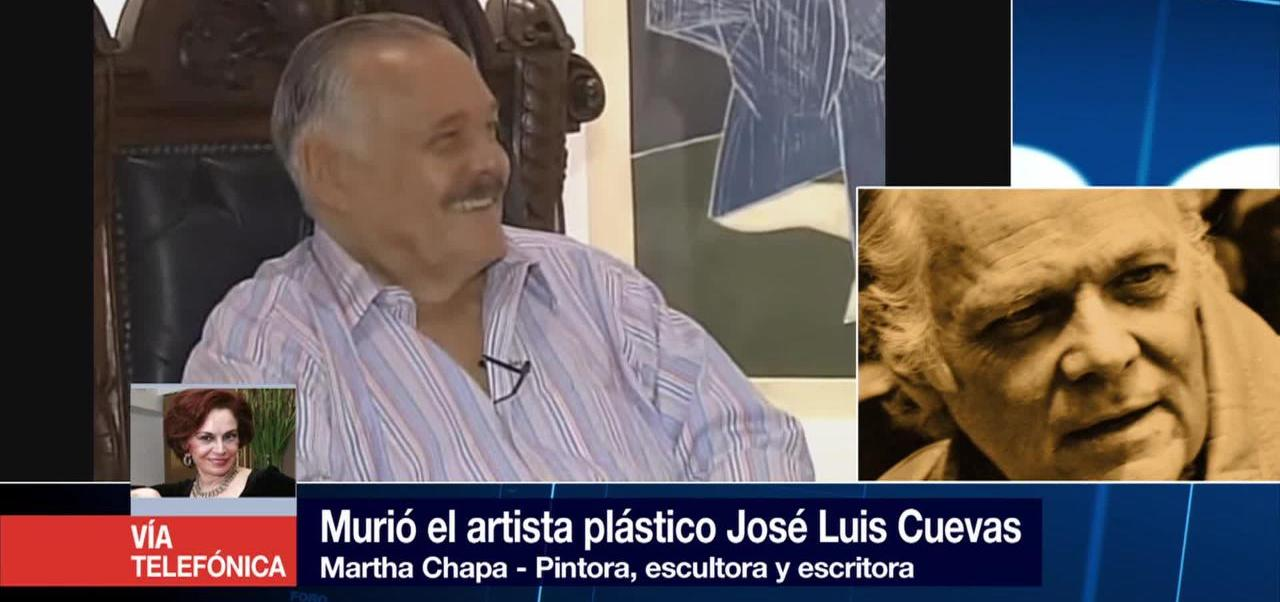 Noticias, forotv, Martha Chapa, lamenta, fallecimiento, José Luis Cuevas
