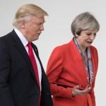 El presidente de EU, Donald Trump y la primera ministra de Reino Unido, Theresa May (Getty Images/Archivo)