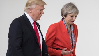 El presidente de EU, Donald Trump y la primera ministra de Reino Unido, Theresa May (Getty Images/Archivo)