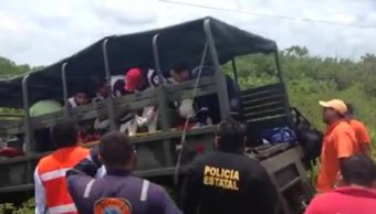 Militares, Accidente, Volcadura, Campeche, Sedena, Lesionados