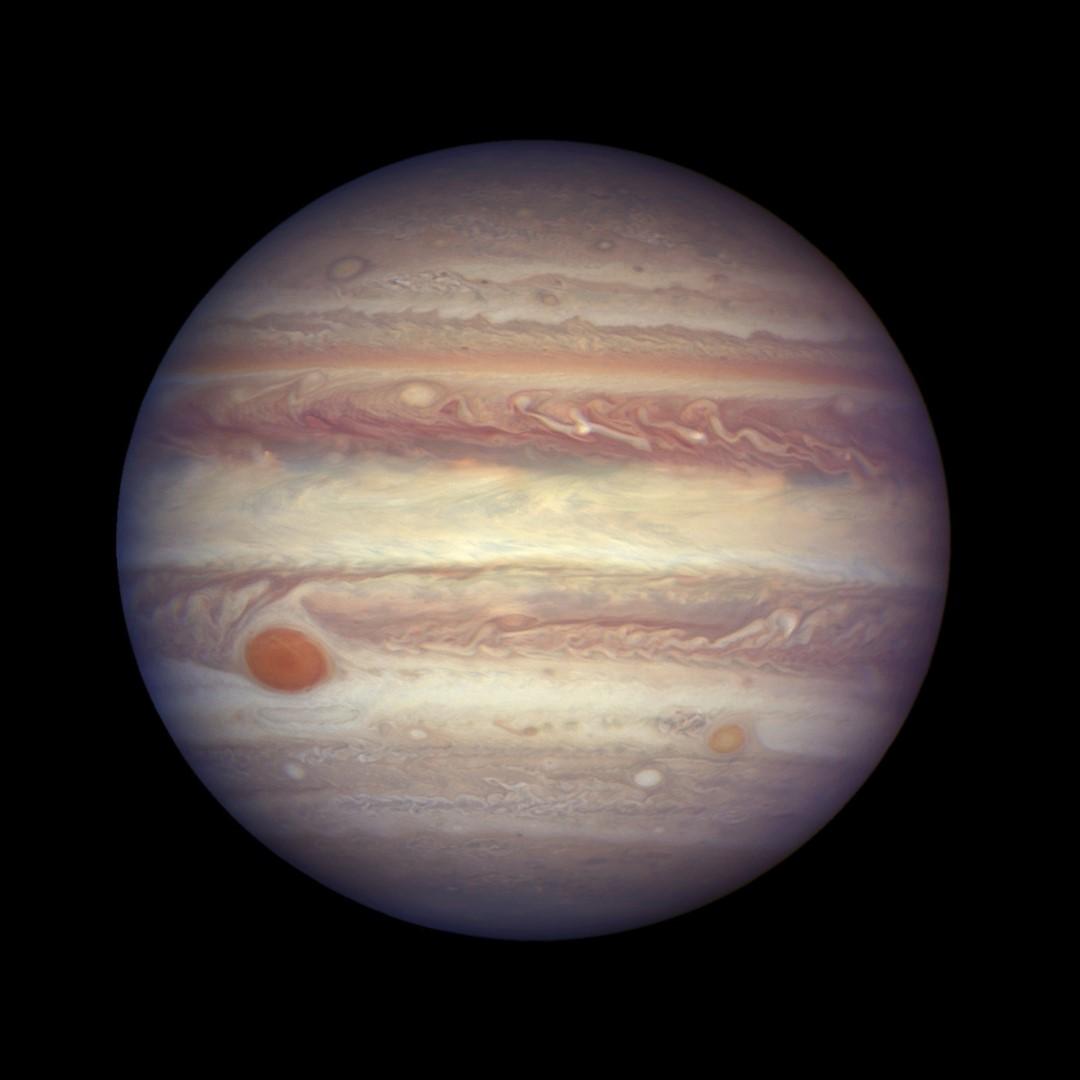 NASA difunde nuevas imágenes de la Gran Mancha Roja de Júpiter