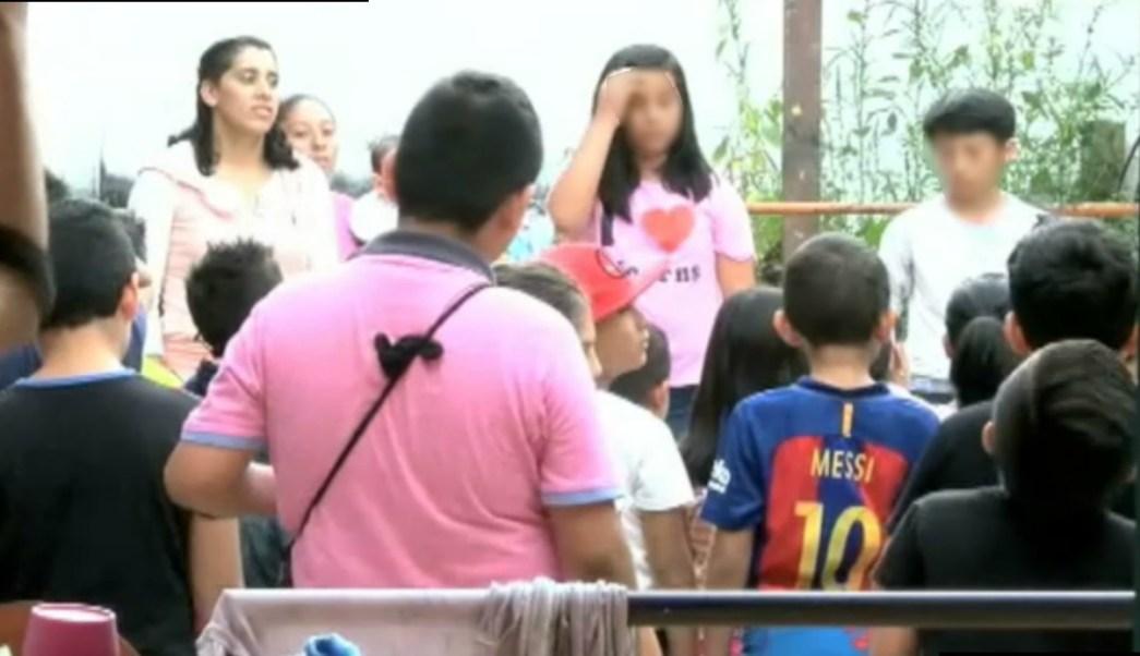 Niños extranjeros son resguardados en jardin de xalapa