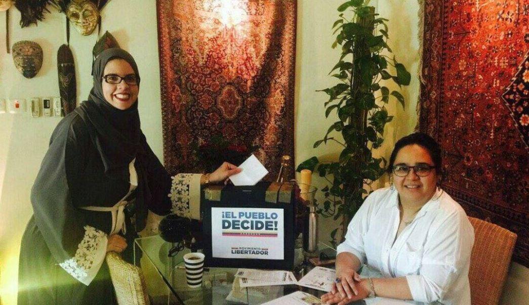 Venezolanos, residentes, Oriente Medio, consulta opositora