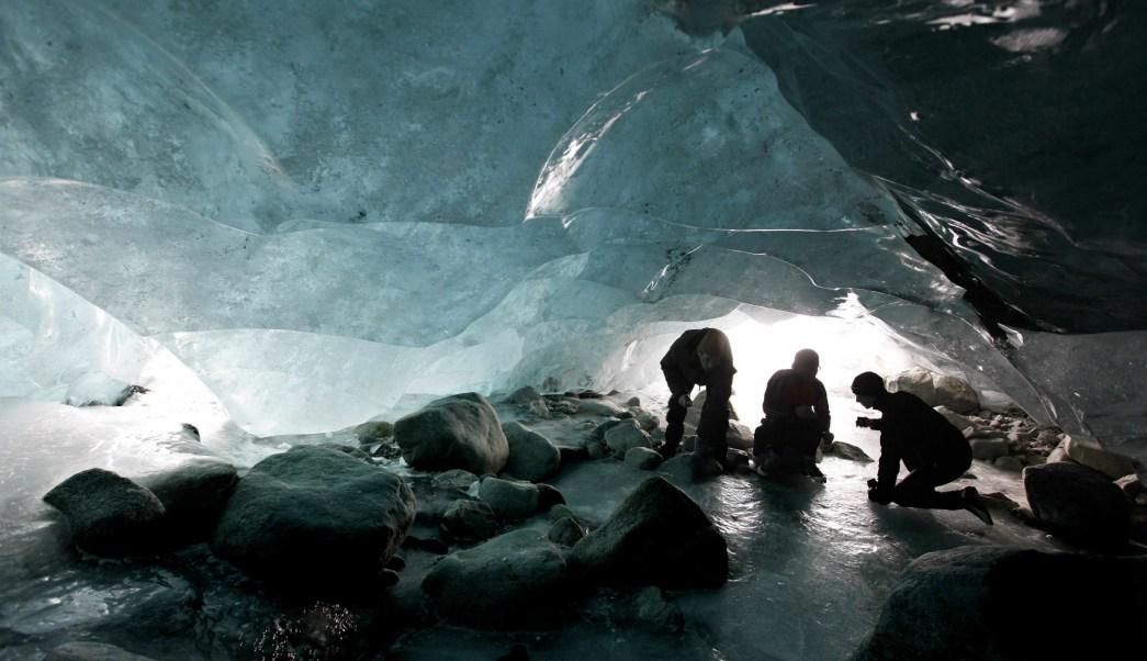 Pareja congelada, Glaciar, congelados, Suiza, Pareja