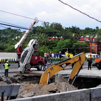 SCT admite riesgo inminente por lluvias en Paso Express Cuernavaca