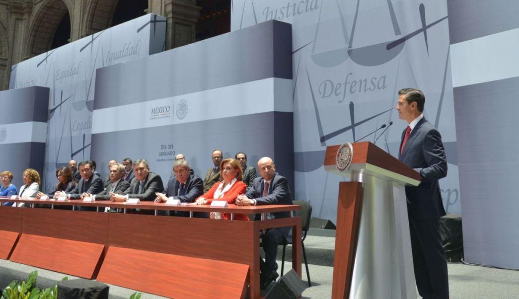Enrique Pena Nieto, Palacio Nacional, Presidente, sistema Judicial, Abogados, Noticias