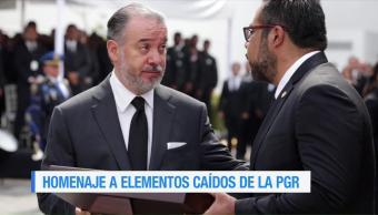 procuraduría general de la república (PGR), rinde homenaje, elementos caídos, San Miguel Totolapan