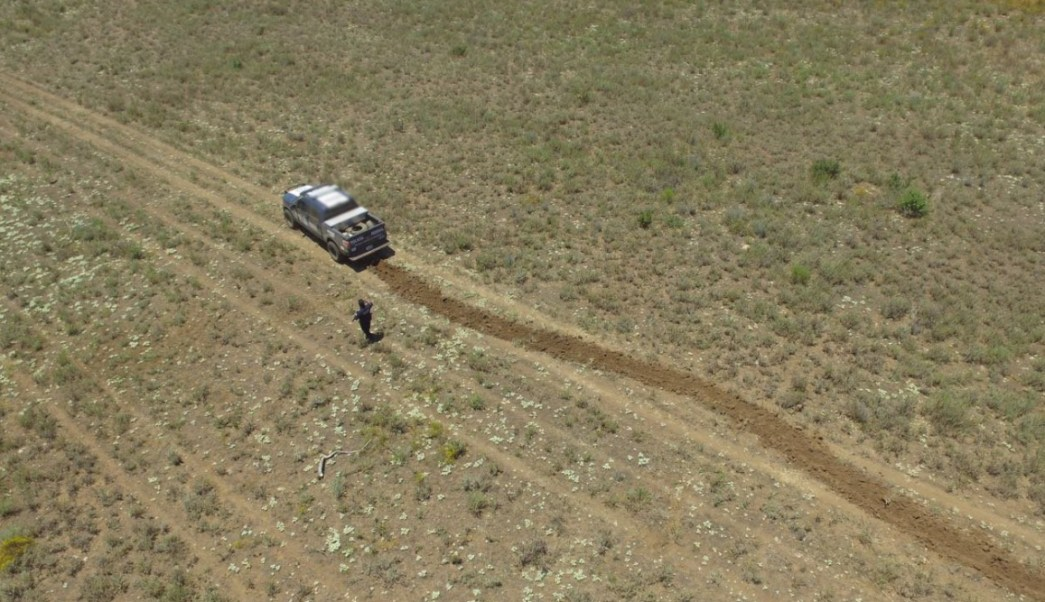 Policía Federal destruye pista clandestina en BC. (Twitter @PoliciaFedMx)