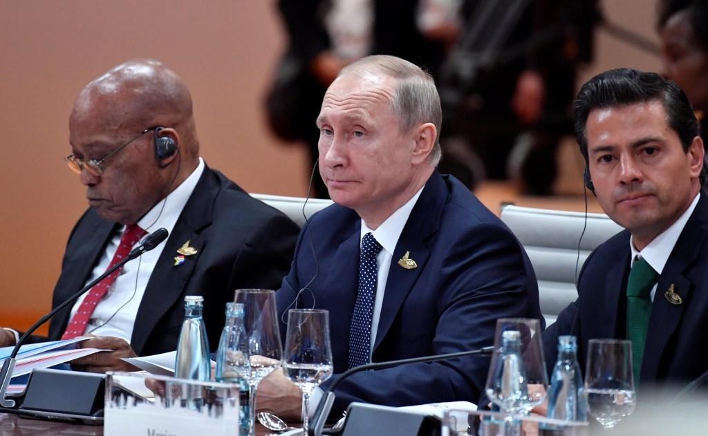 Vladimir Putin y Enrique Peña Nieto en la Cumbre del G20