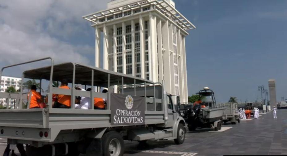 Secretaría de Marina pone en marcha Operación Salvavidas en Acapulco