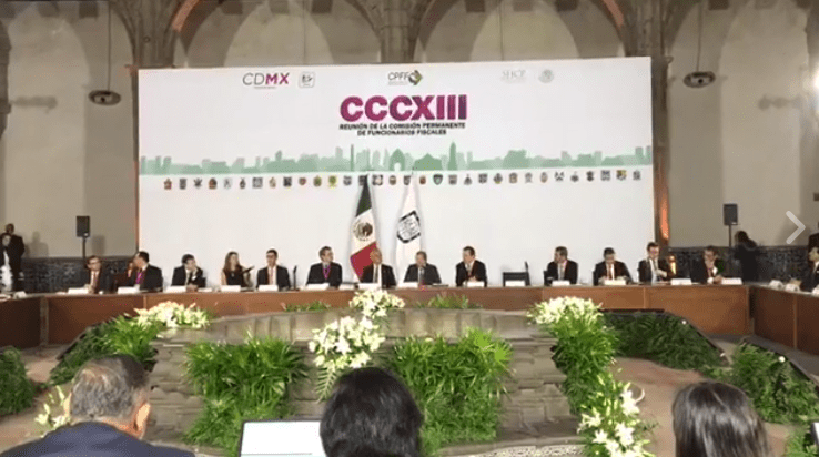 Reunión de funcionarios fiscales en la CDMX