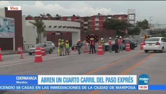 SCT, Abrió, Cuarto Carril, Paso Express Cuernavaca, Reparación, Socavón