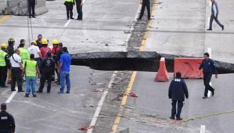 Socavon, Paso Express, Cuernavaca, Morelos, Sct, Rescate