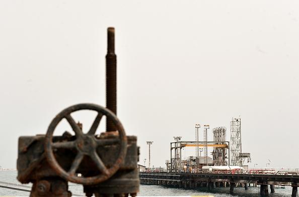 Terminal petrolífera en el Golfo Pérsico