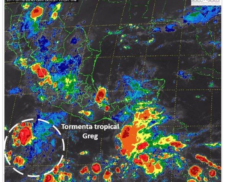 Clima, tormenta tropical, Greg, Pacífico, Colima, Manzanillo, lluvias