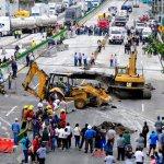 Trabajos, autopista México-Cuernavaca, socavón, Morelos