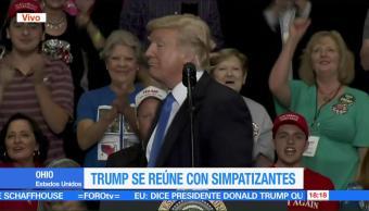 Trump Presidente Simpatizantes Ohio Estados Unidos Donald Trump