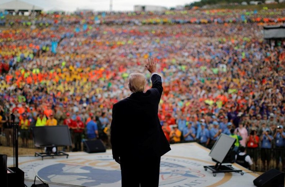 Donald Trump, Cumbre Scout, Virginia Occidental, Estados Unidos