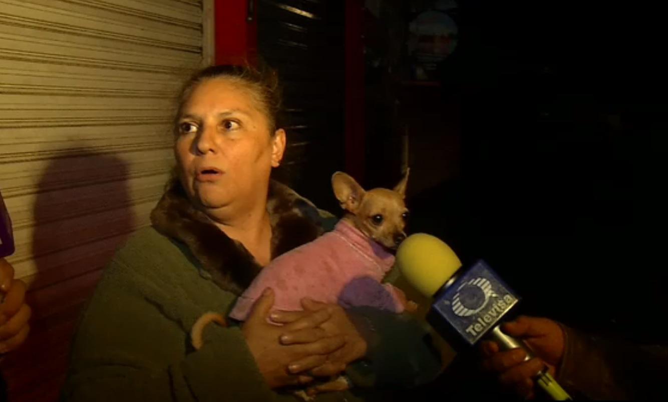 Vecina afectada por un incendio dentro de un departamento ubicado en la zona centro d la CDMX