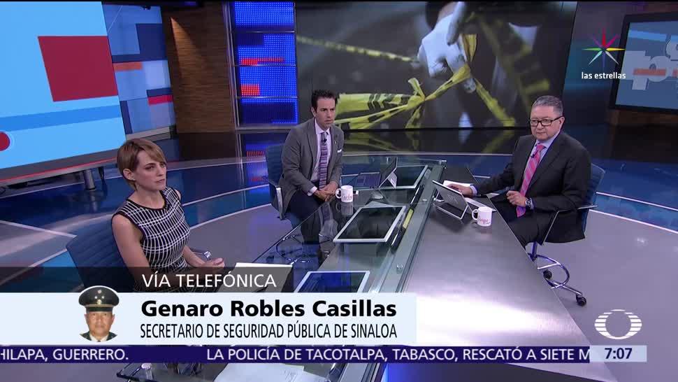 Genaro Robles Casillas, secretario de Seguridad Pública, Sinaloa, Despierta con Loret