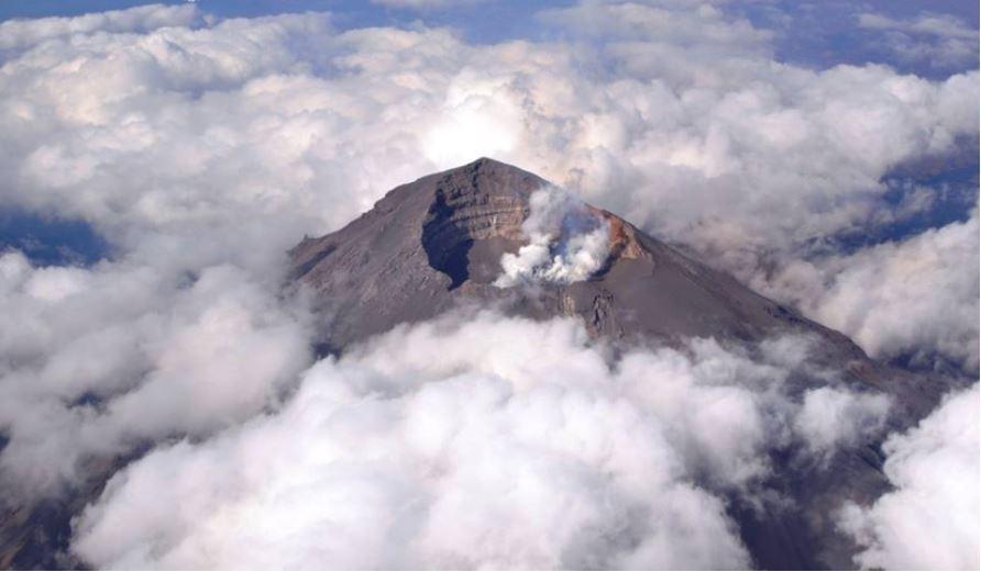El volcan popocateptl registra actividad el martes