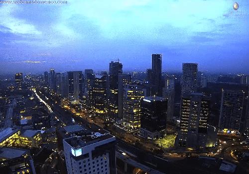 Vista panorámica de la CDMX con nublados