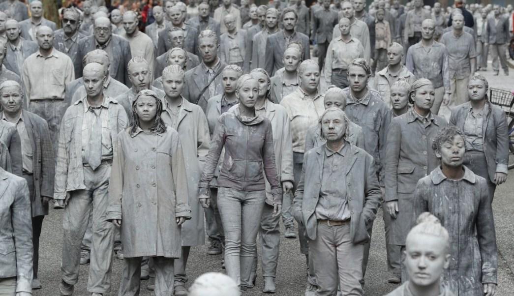 Artistas celebran la protesta zombie contra la cumbre del G20 (Getty Images)