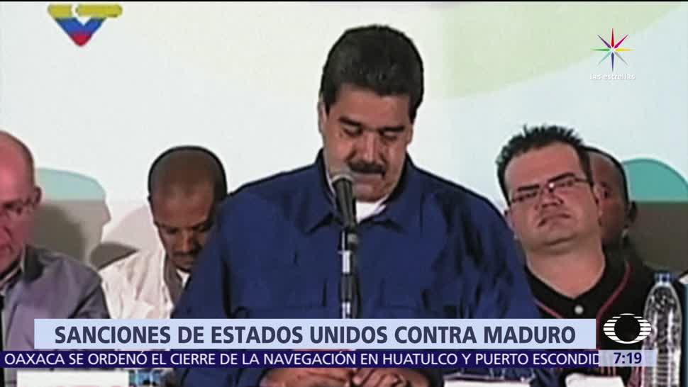 Maduro, sanciones, EU, Venezuela